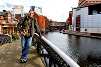 Myself and the canalside in Birmingham